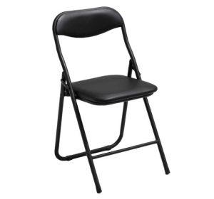 Fällbar stol med stoppad sits och rygg