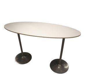 Ståbord ovalt VIT