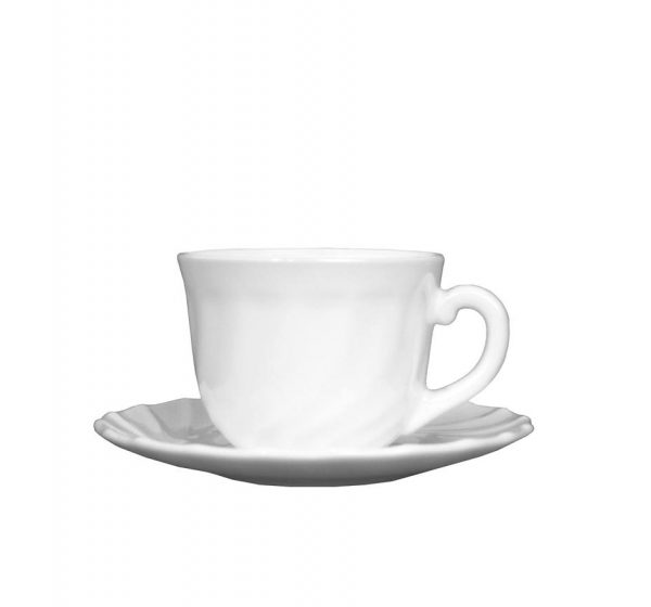 Kaffekopp med fat [A]