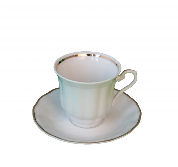 Kaffekopp med fat [G]