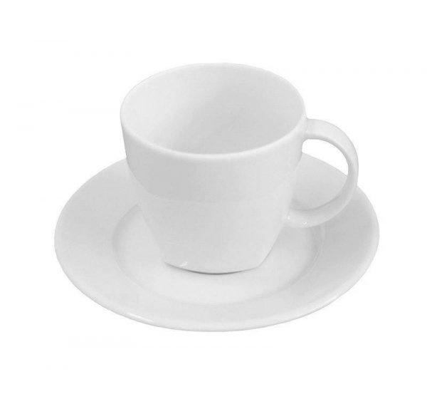 Kaffekopp med fat [O]