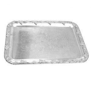 Serveringsbricka rektangulär silver
