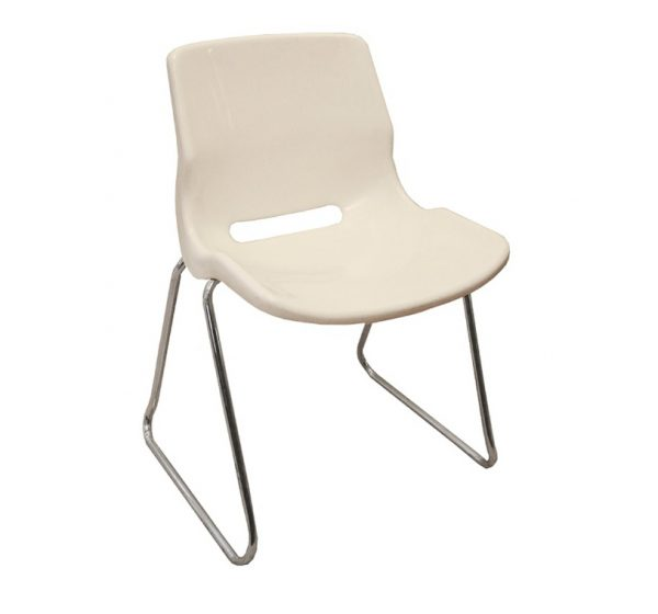 Stapelbar stol VIT
