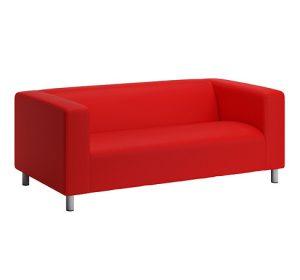 Tygsoffa 2-sits, IKEA, RÖD