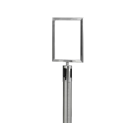 Skylthållare (A4) inkl. stolpe KROM